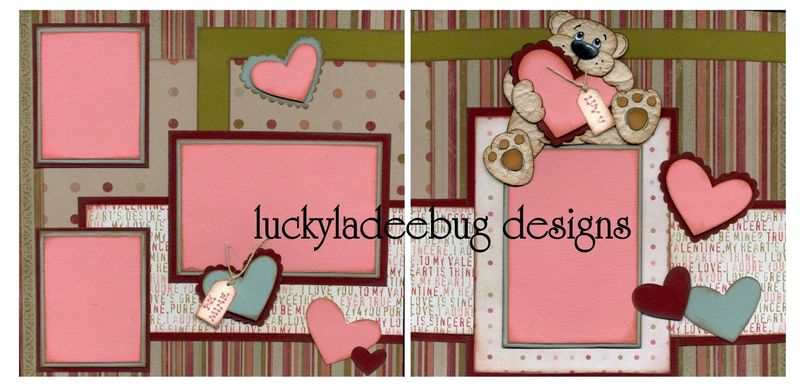Valentine bear layout